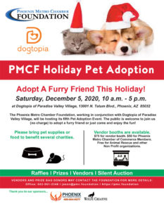 PMCC Winter Pet Adoption Event & Expo @ Dogtopia of Paradise Valley Village