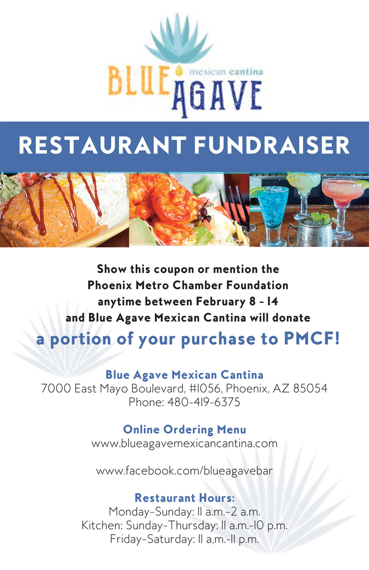 Blue Agave Mexican Cantina Restaurant Fundraiser @ Blue Agave Mexican Cantina